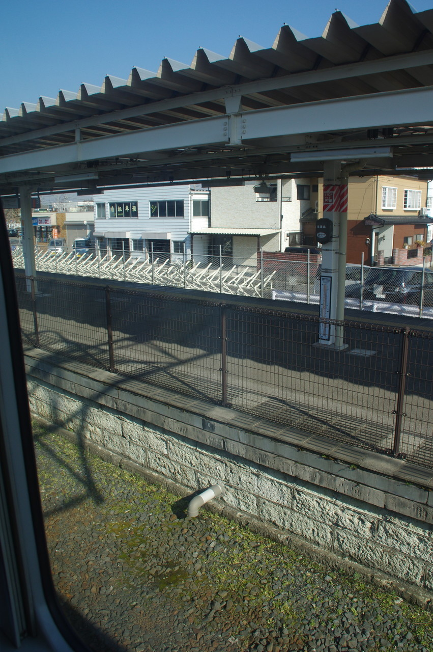 間々田駅の2番線跡地