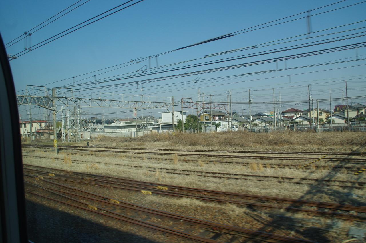 小山駅北側の留置線?