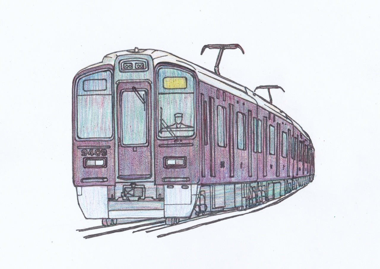 阪急9300系のイラスト