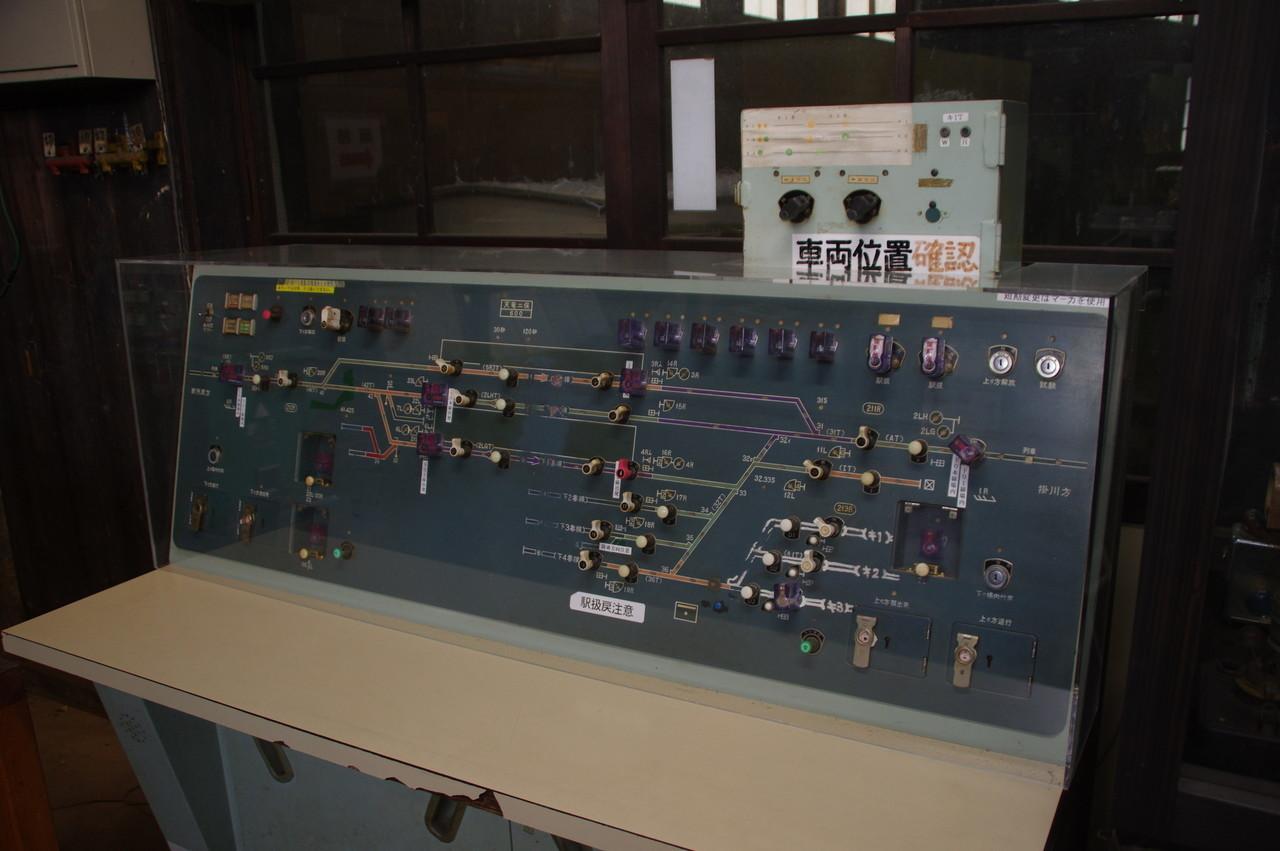 配線が描かれた操作パネル
