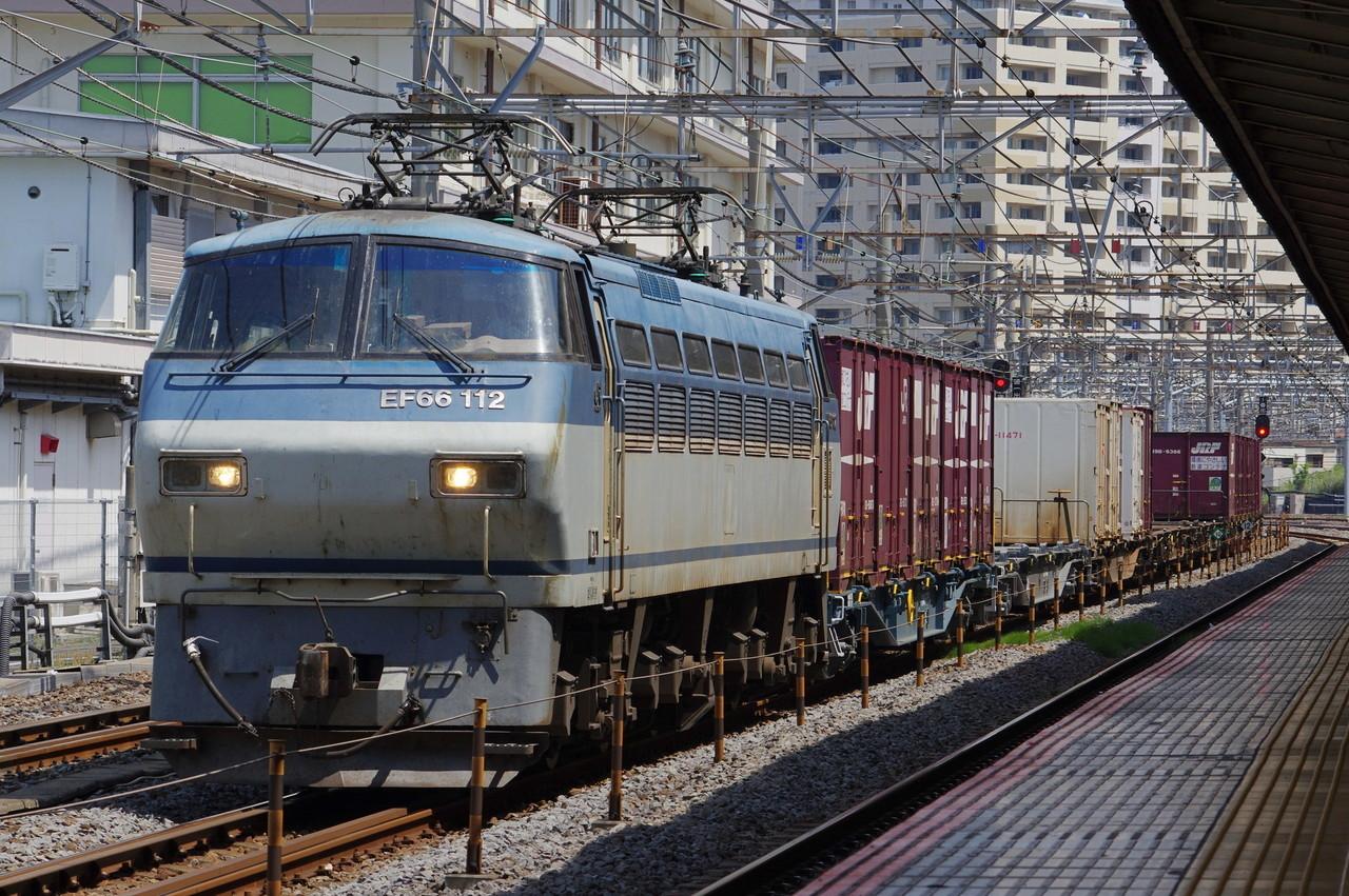 EF66 112牽引 貨物列車