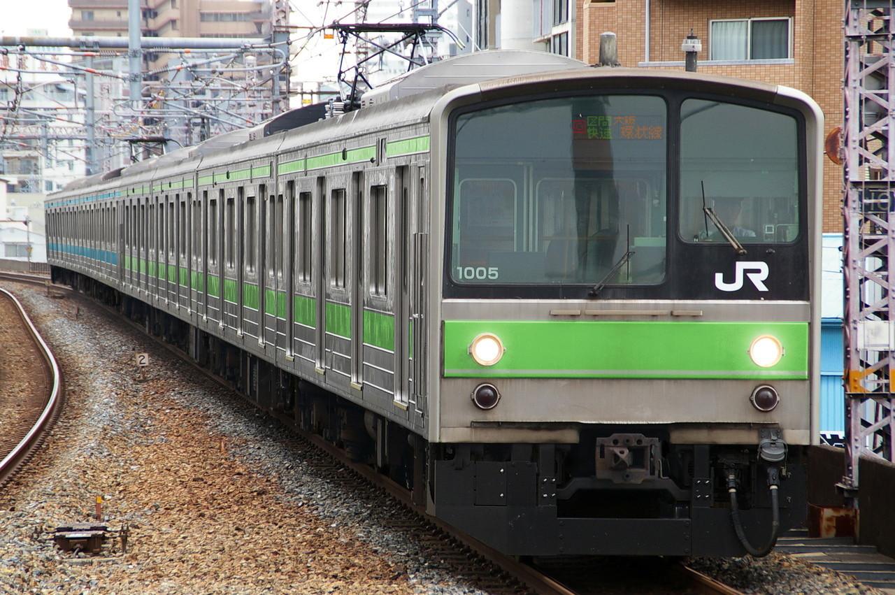 205系1000番台の区間快速・大阪環状線行き(ウソ電)