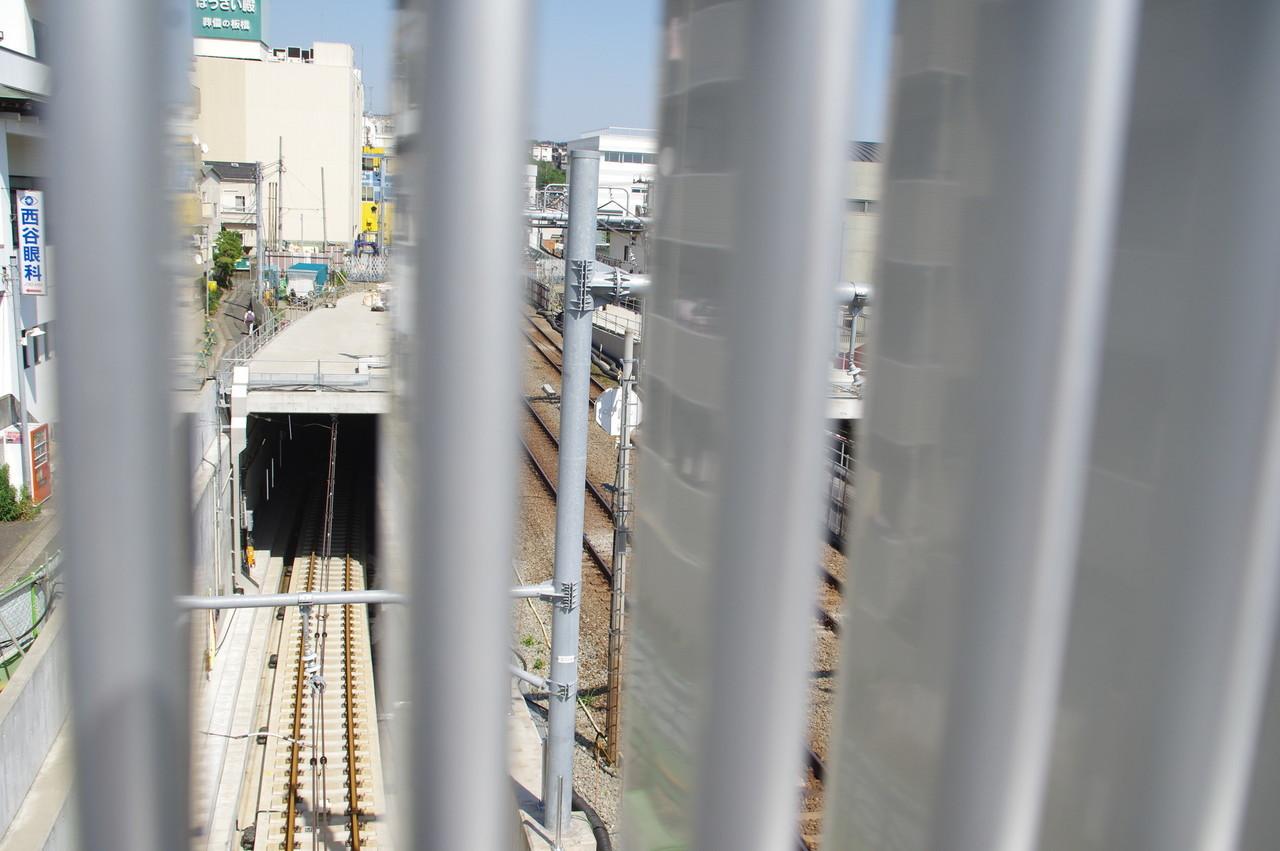 羽沢方面線のトンネル入り口