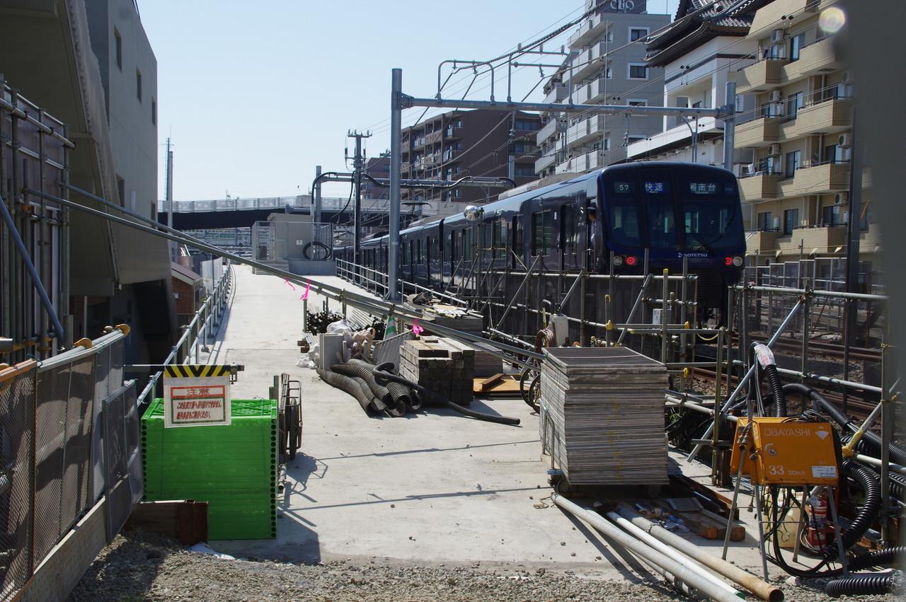 二俣川方面線のトンネル出入口上部