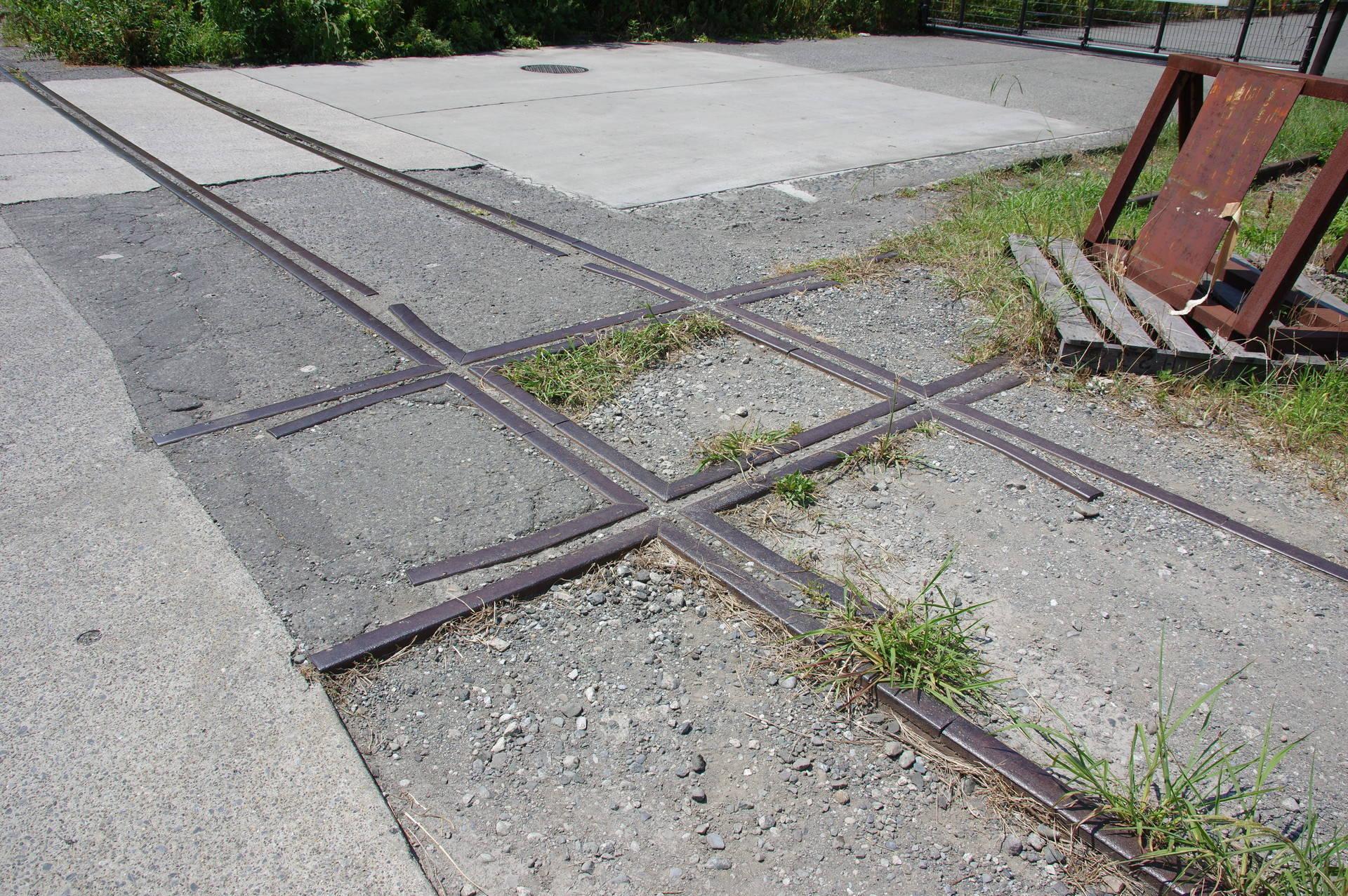 田浦専用線の十字交差