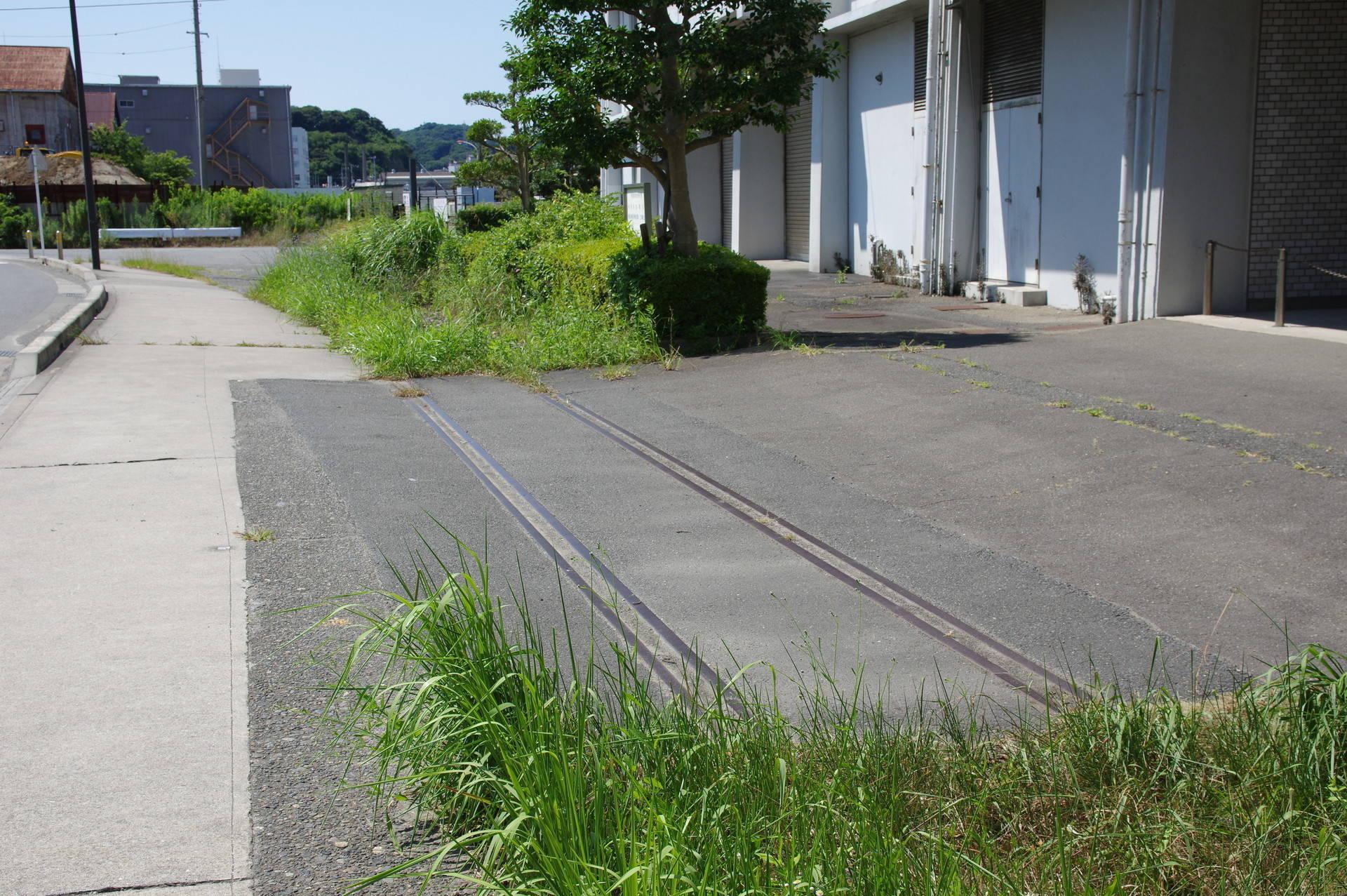 踏切と歩道