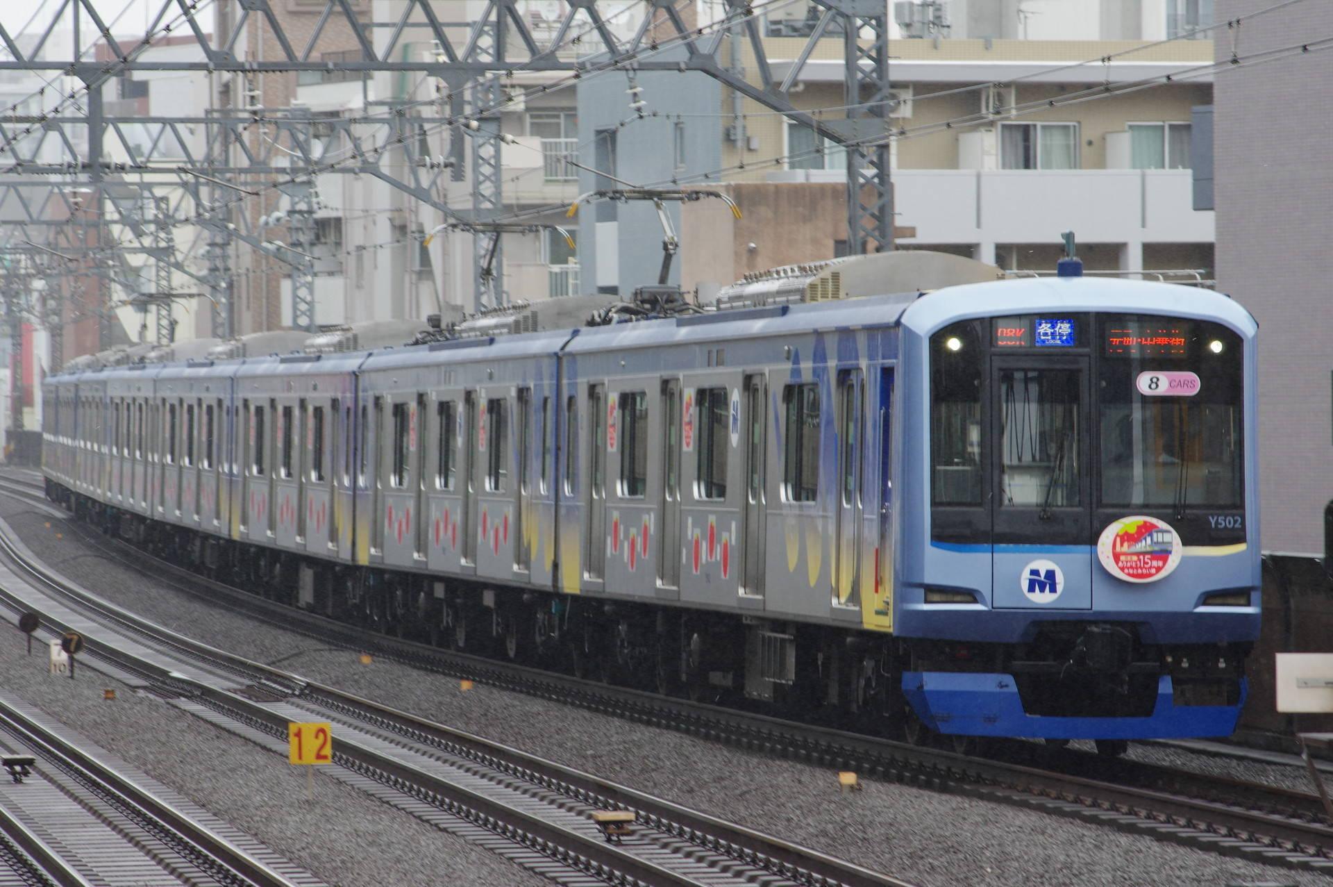 横浜高速鉄道 Y500系Y512編成「みなとみらい線 開通15周年」HM&ラッピング