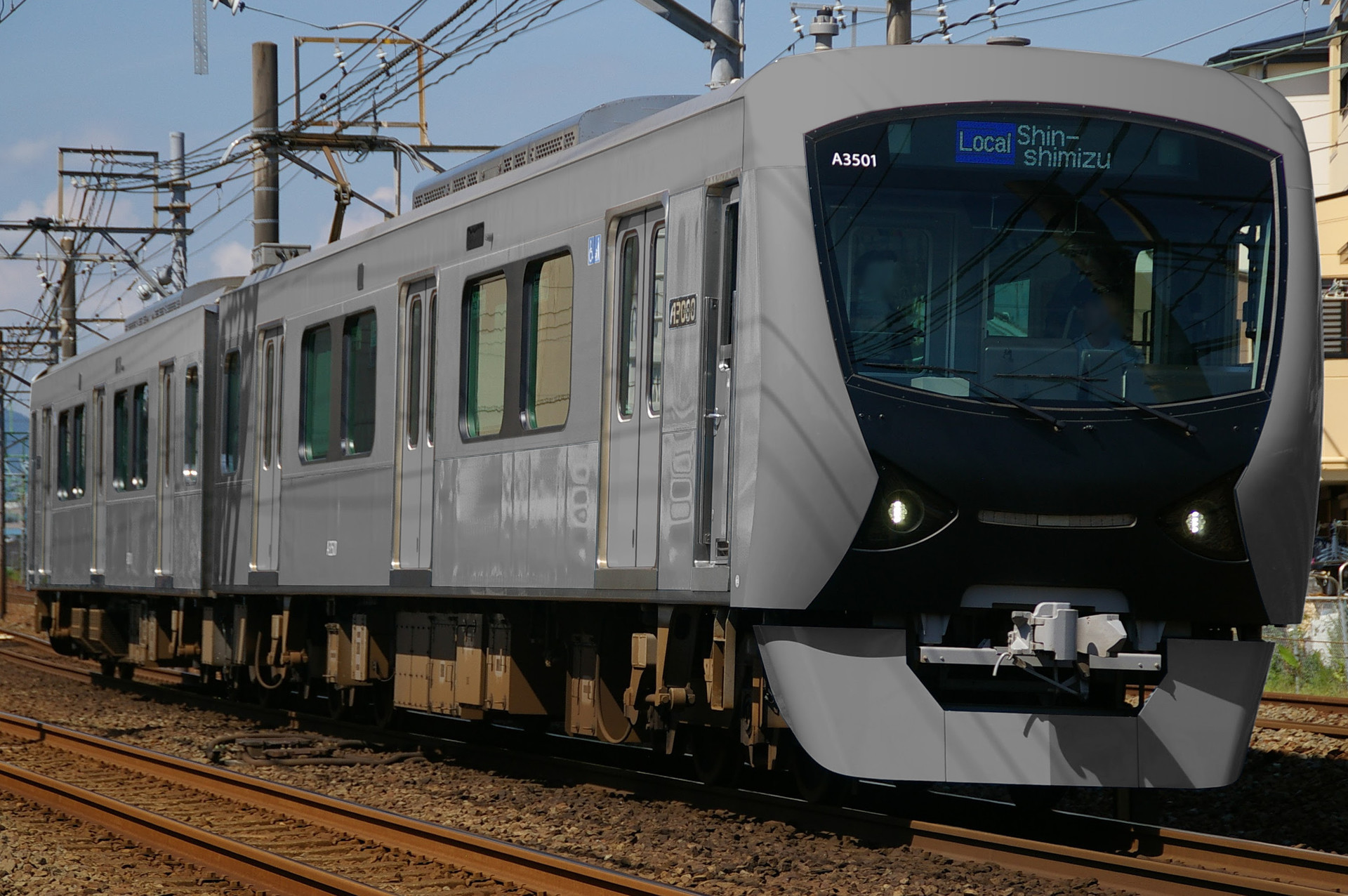 静岡鉄道 A3000系の色変え用素体