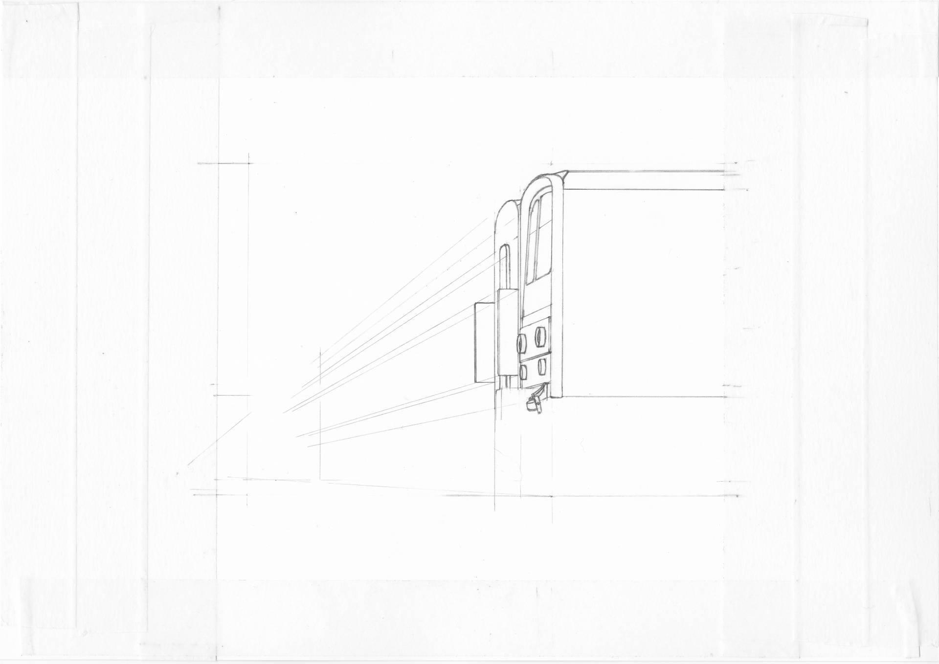 武蔵野線205系のイラスト(描き始め)