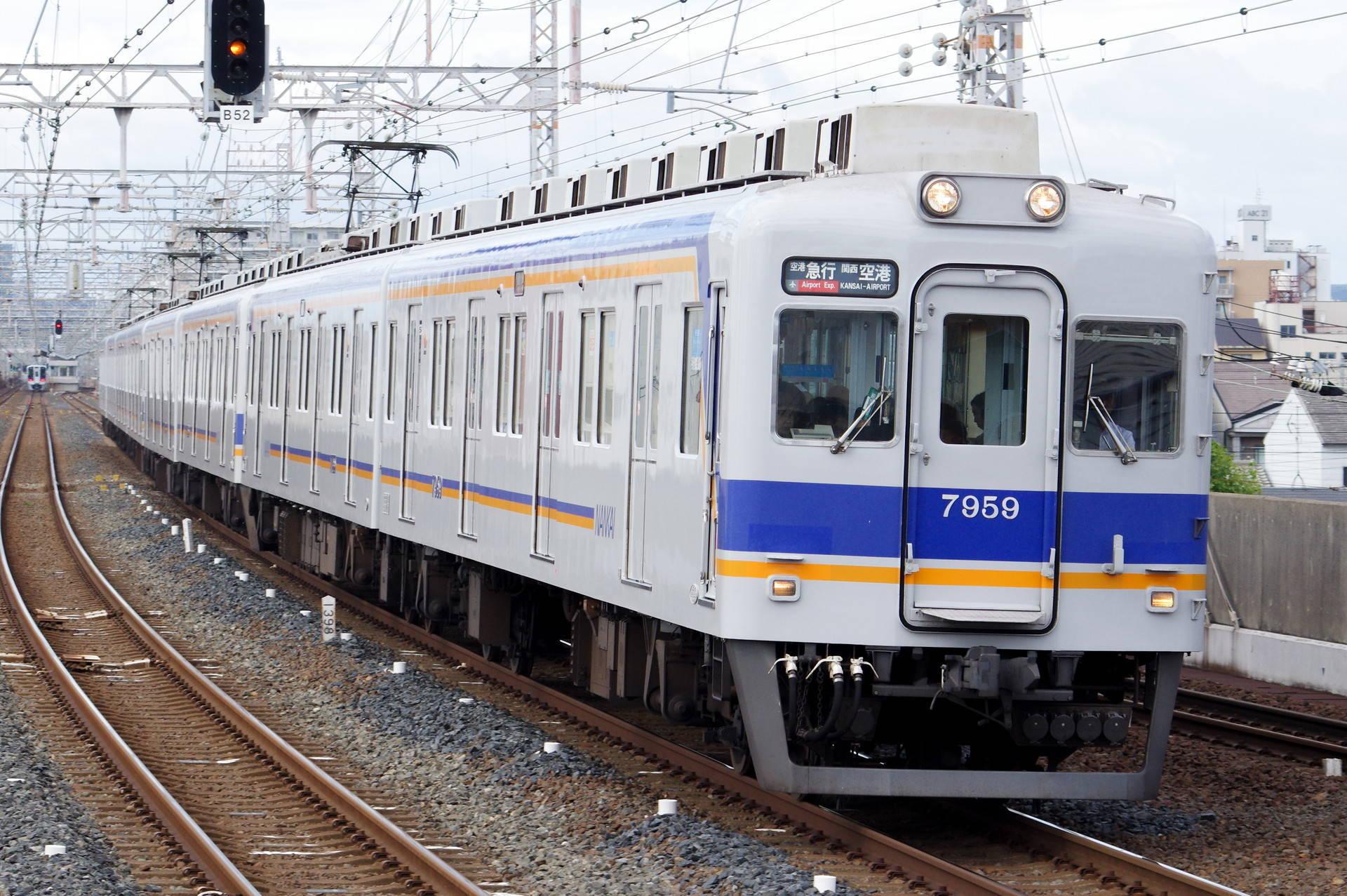 南海 7100系7155編成 + 7100系2連 + 7100系4連