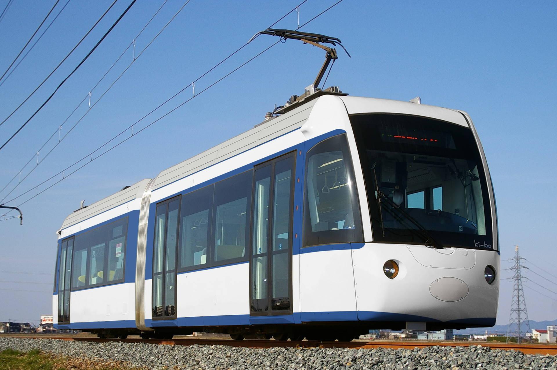 えちぜん鉄道ki-boに0系新幹線の色を塗ったウソ電
