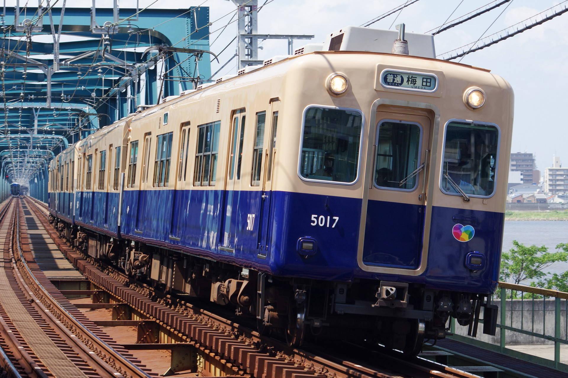 阪神 5001形5017編成 (前照灯未換装)