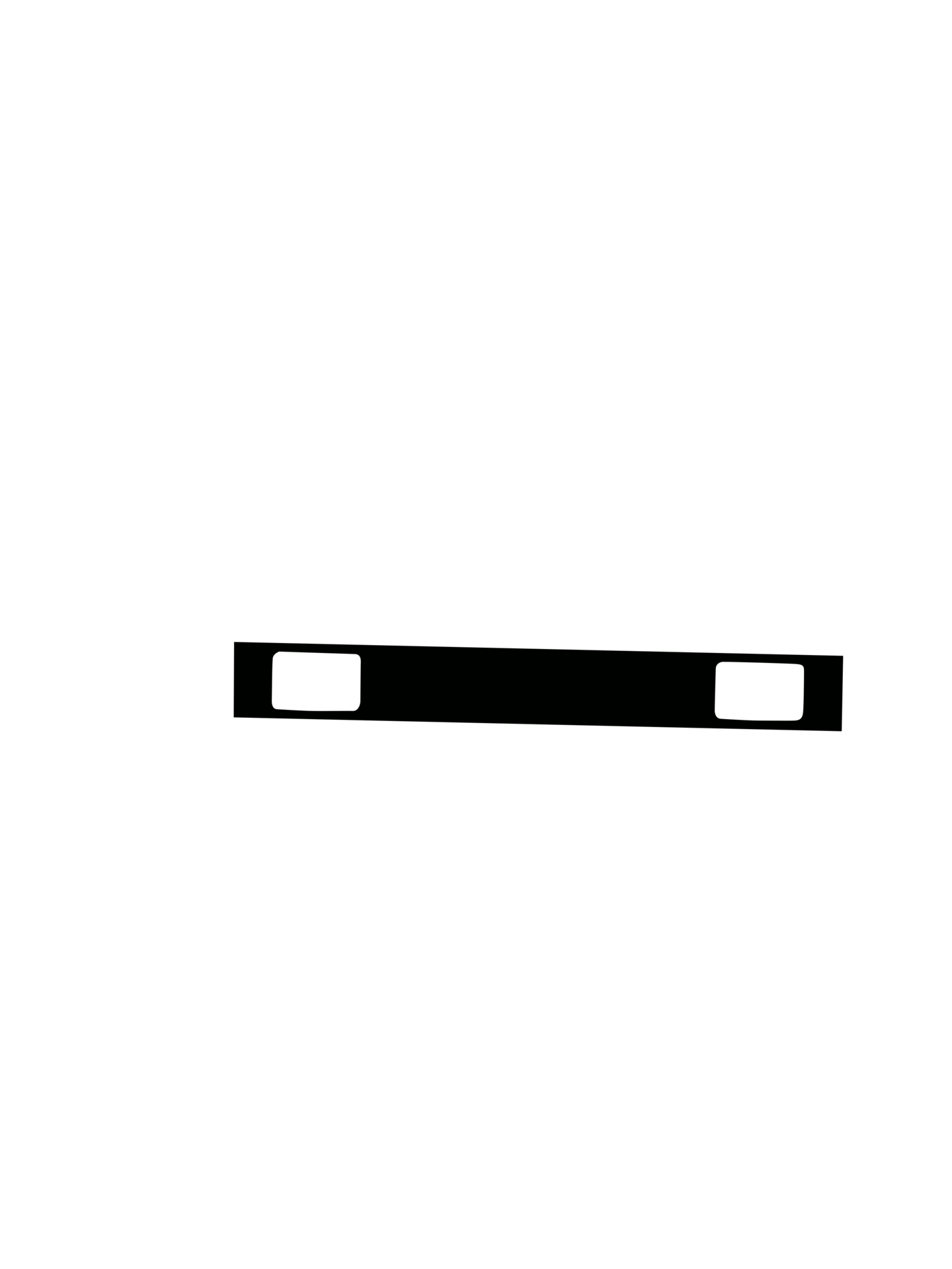 東急2000系の型紙(前面帯のみ)