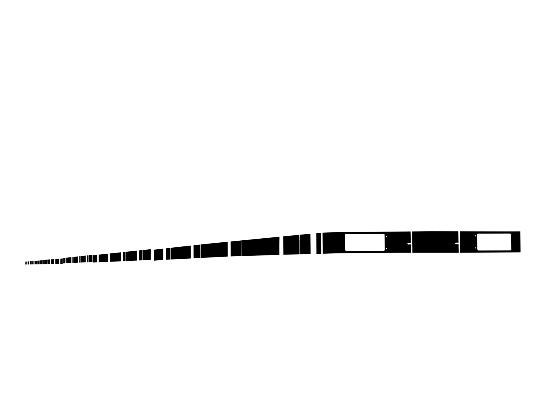 小田急1000形の型紙(帯のみ)