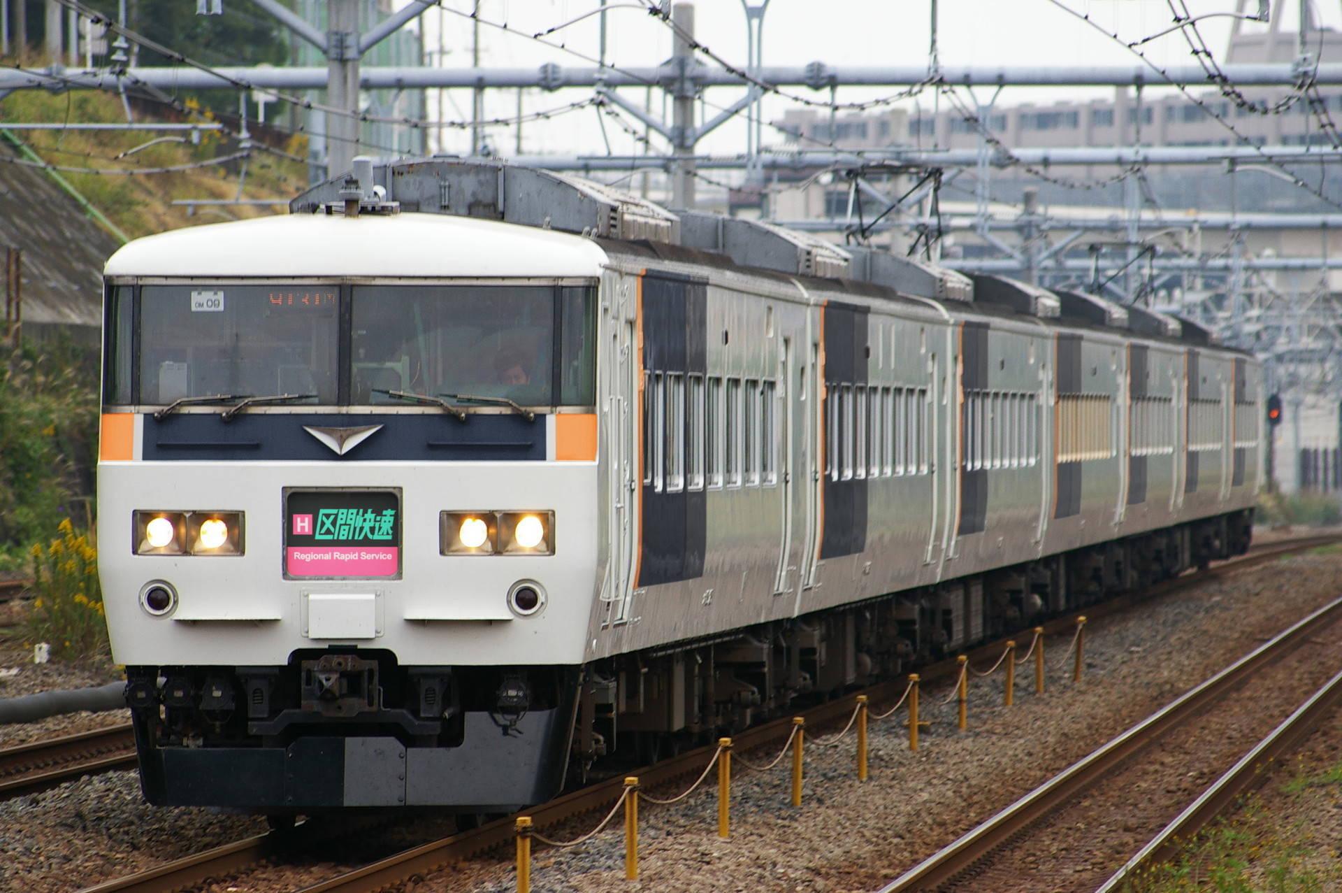京阪神緩行ブロック色の185系(ウソ電)