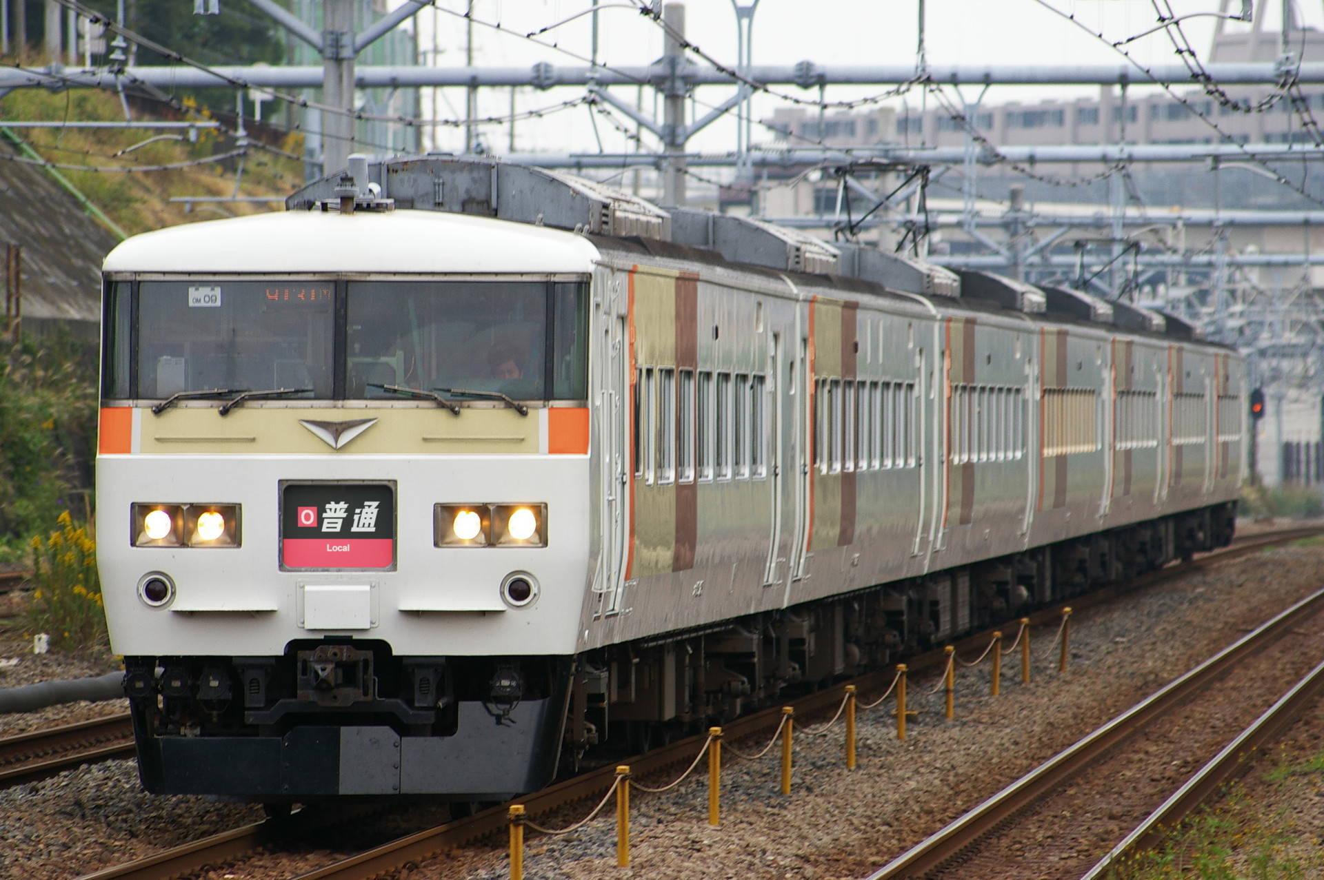 大阪環状線ブロック色の185系(ウソ電)