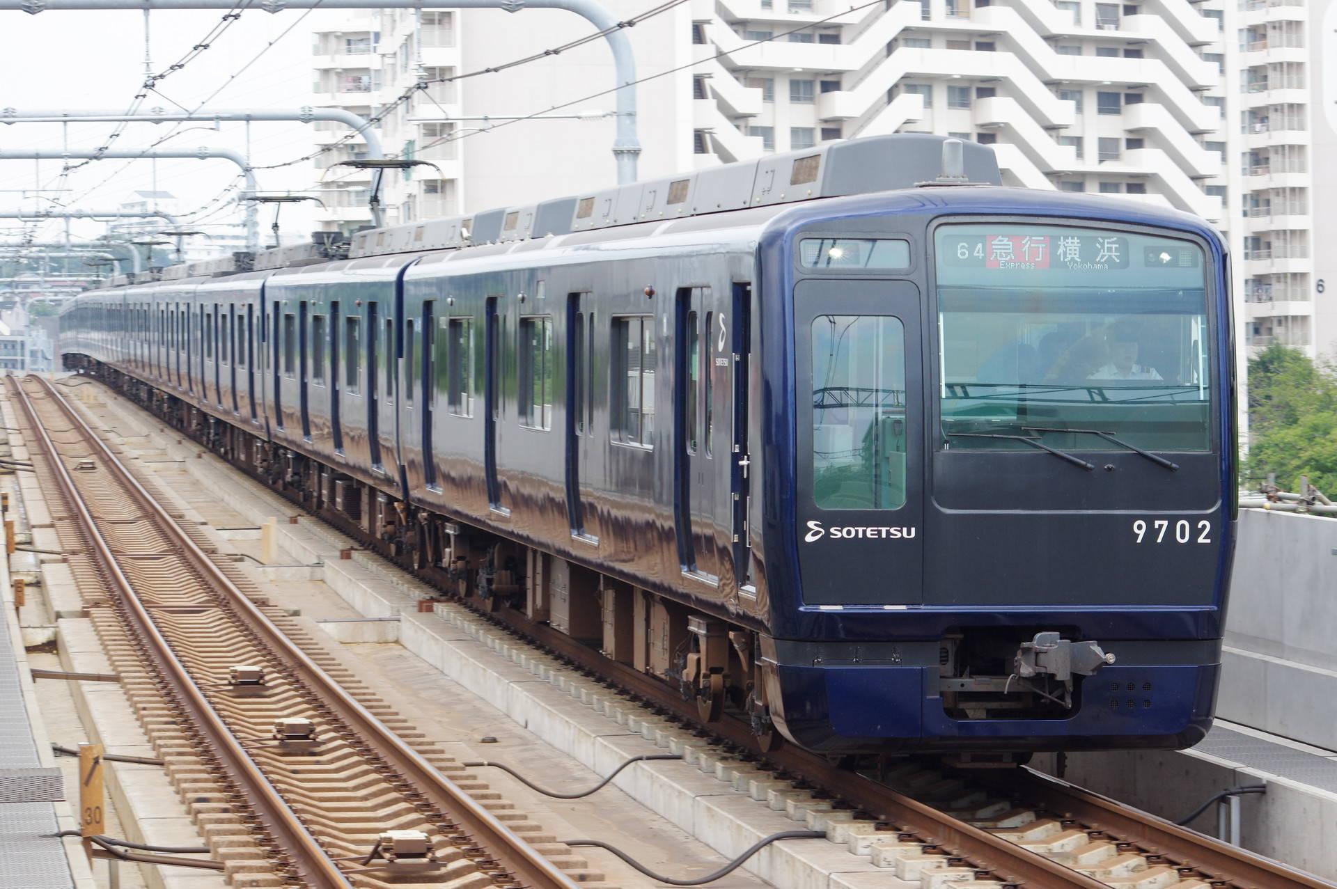 9000系9702編成 (YOKOHAMA NAVYBLUE)