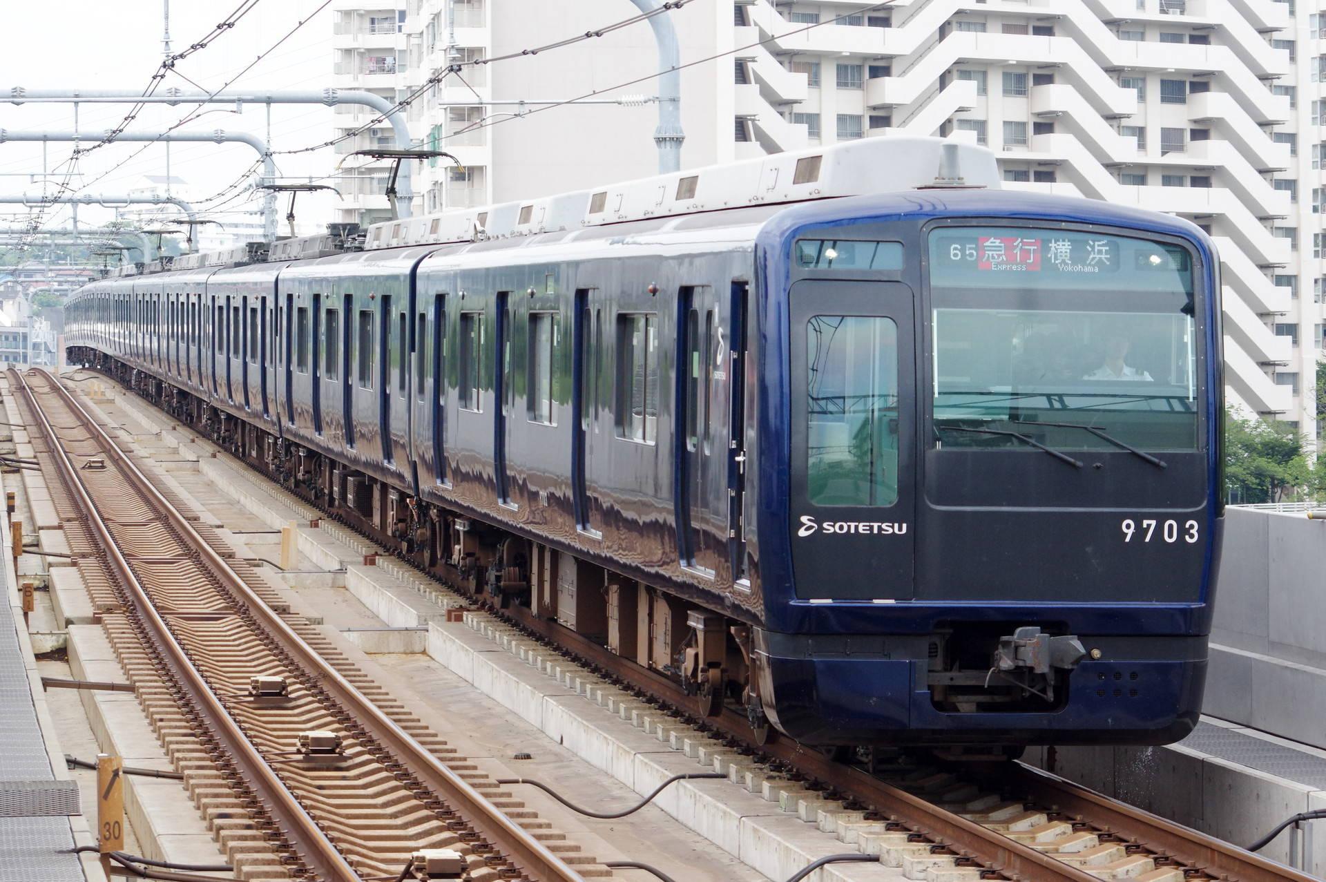 9000系9703編成 (YOKOHAMA NAVYBLUE)