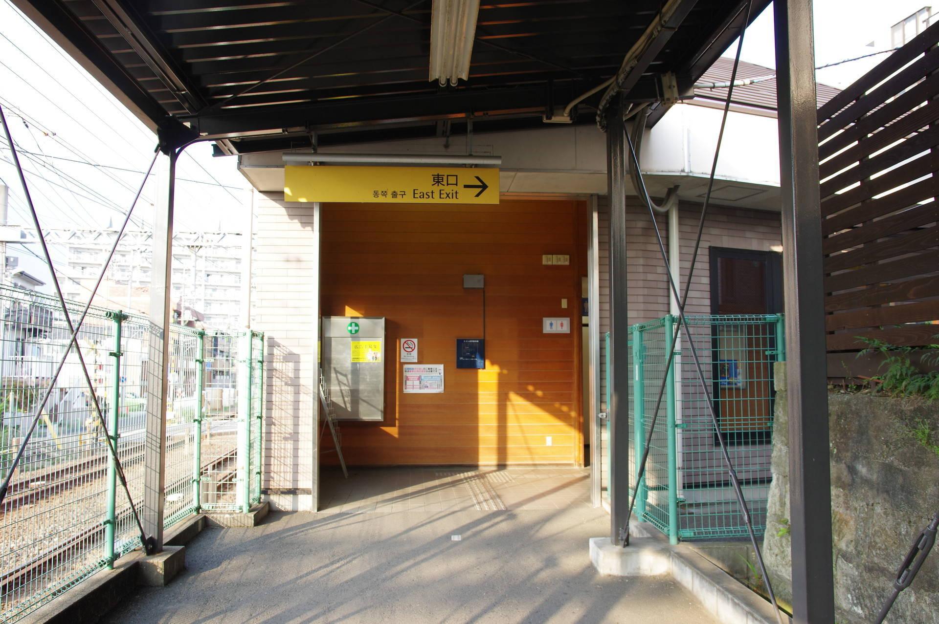 東口駅舎のホーム側入り口