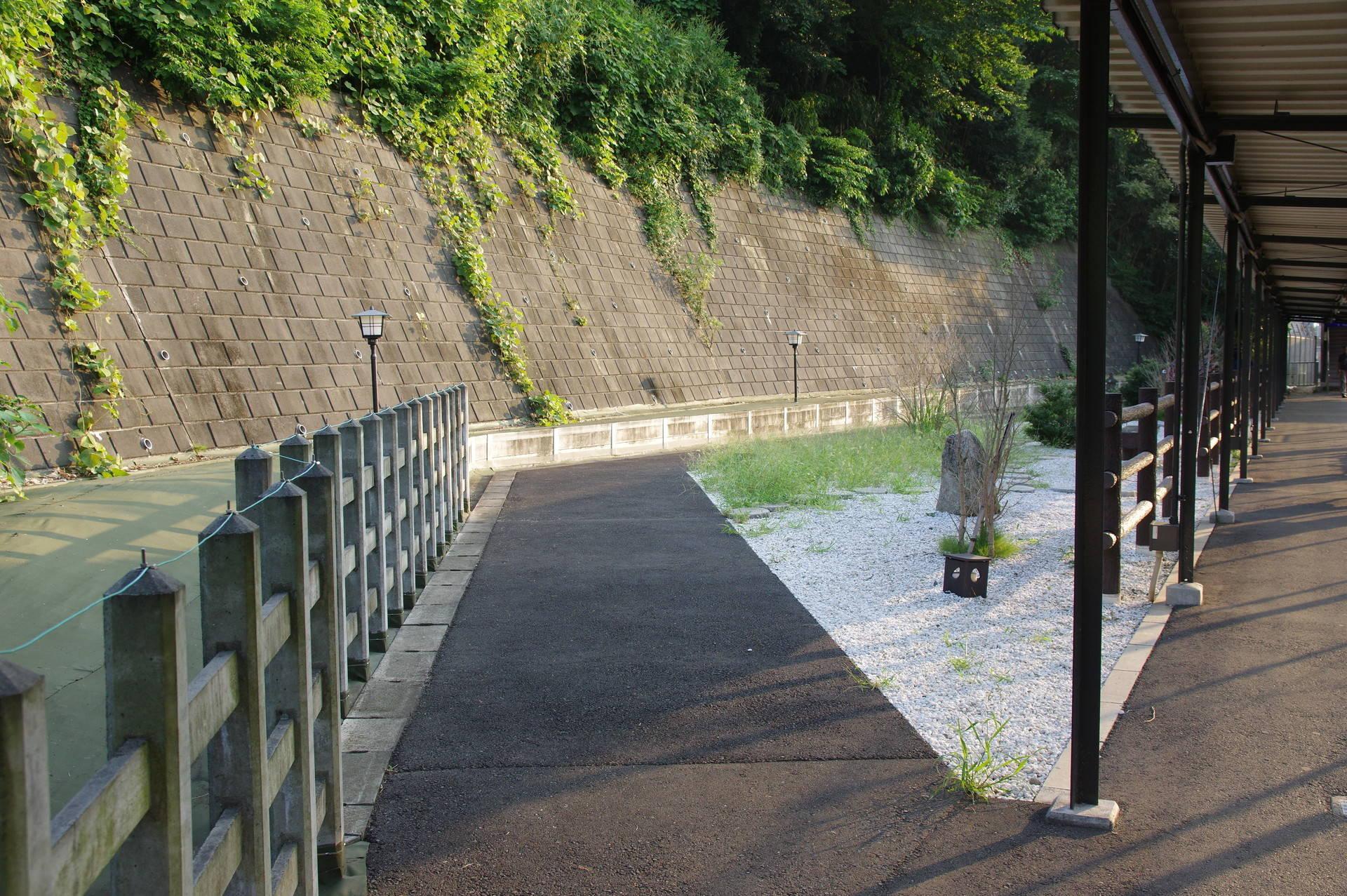 小石が敷かれた公園(?)