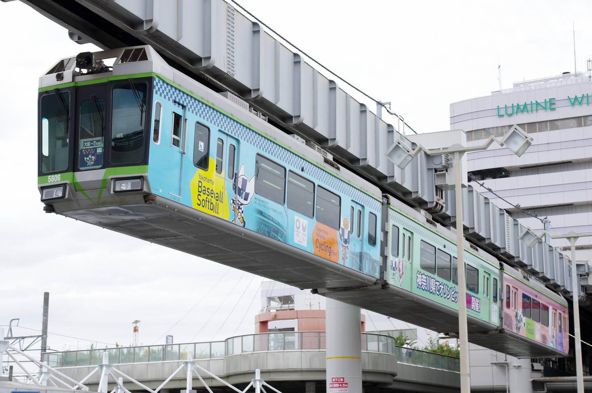 5000系5605編成「TOKYO2020湘南ラッピングモノレール」