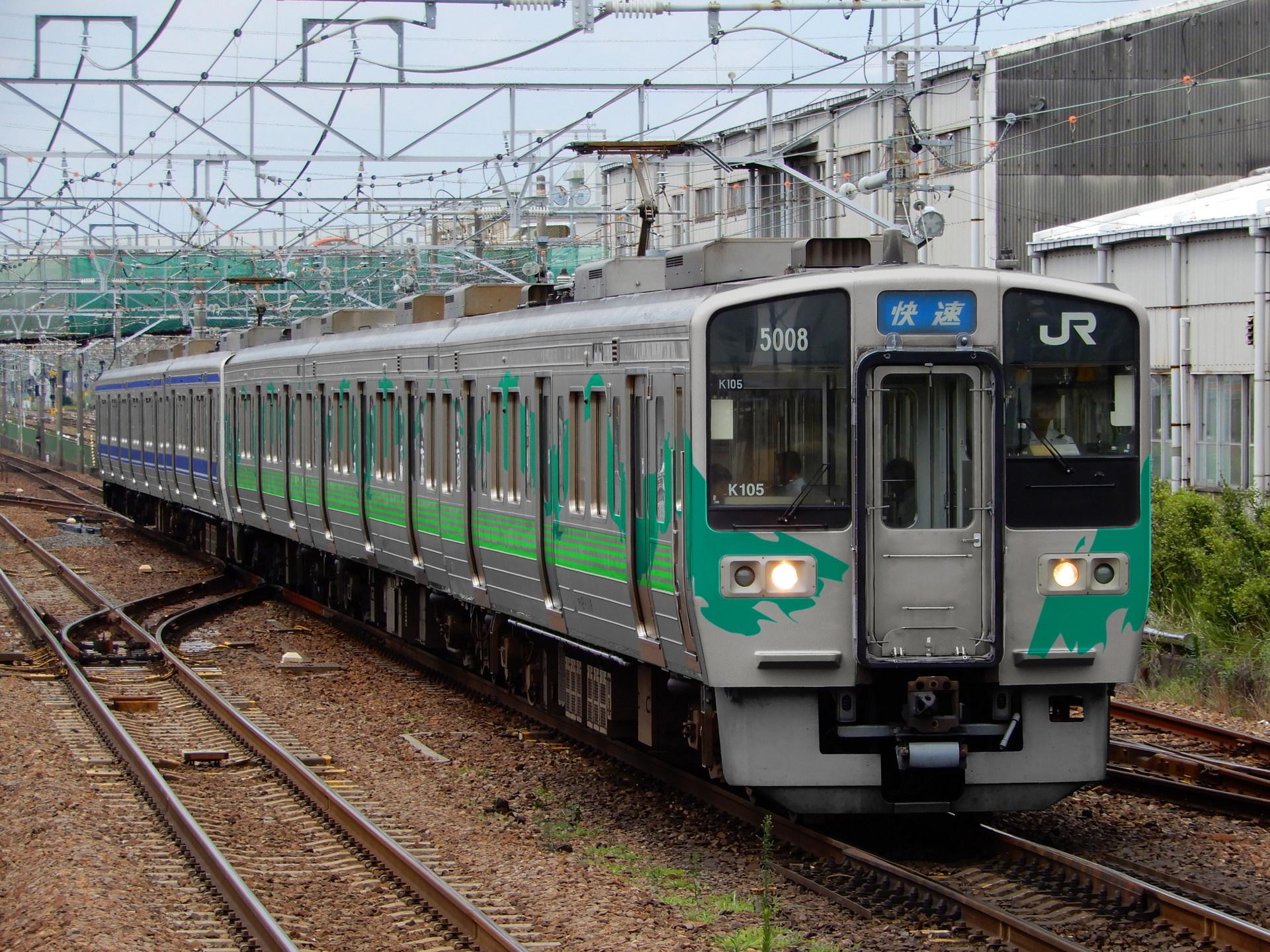 愛知環状鉄道カラーの211系(ウソ電)