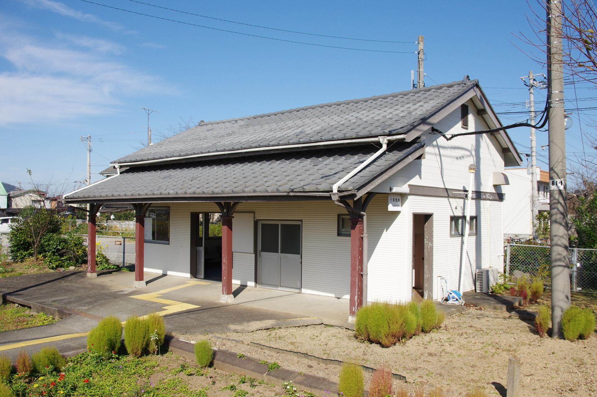 ホーム側から見た駅舎