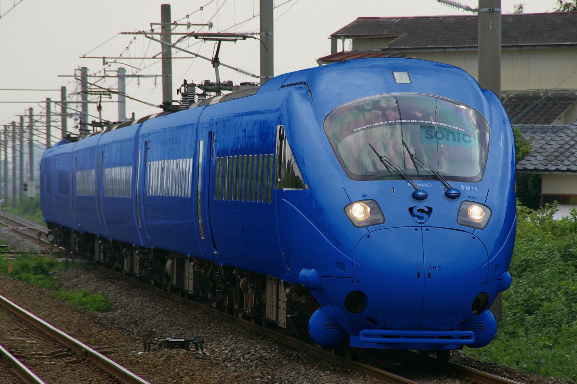 883系風・青色デザインの885系(ウソ電)