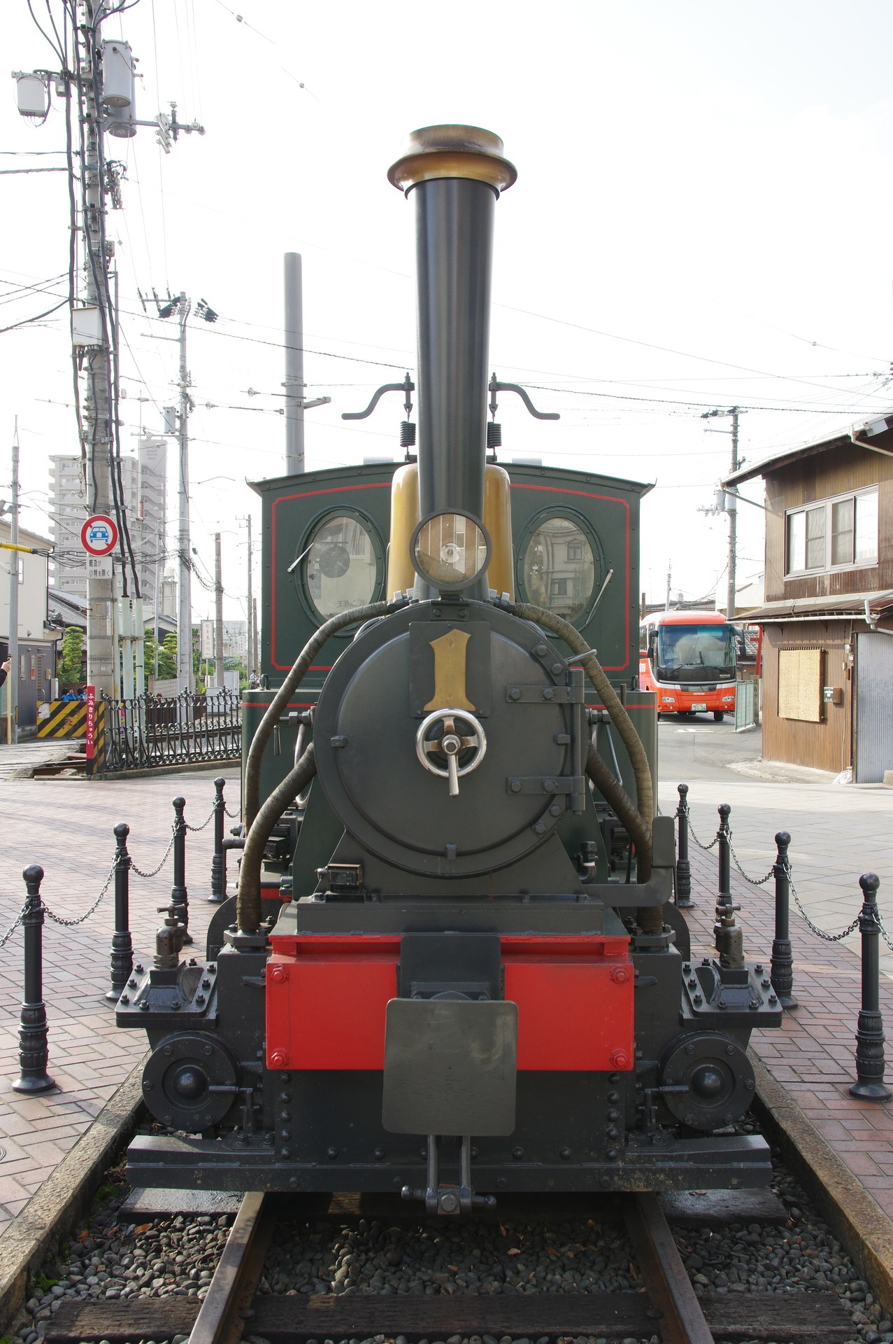 D1形機関車の正面