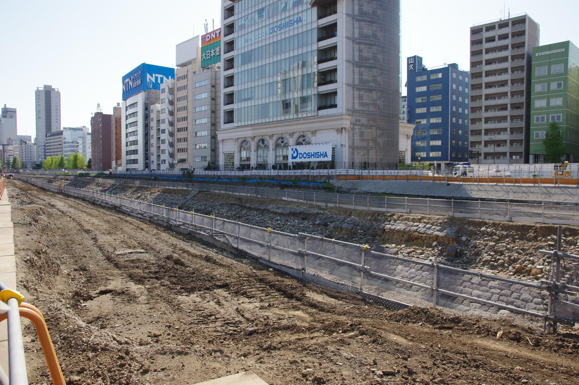 高輪築堤(4街区分)の全体像