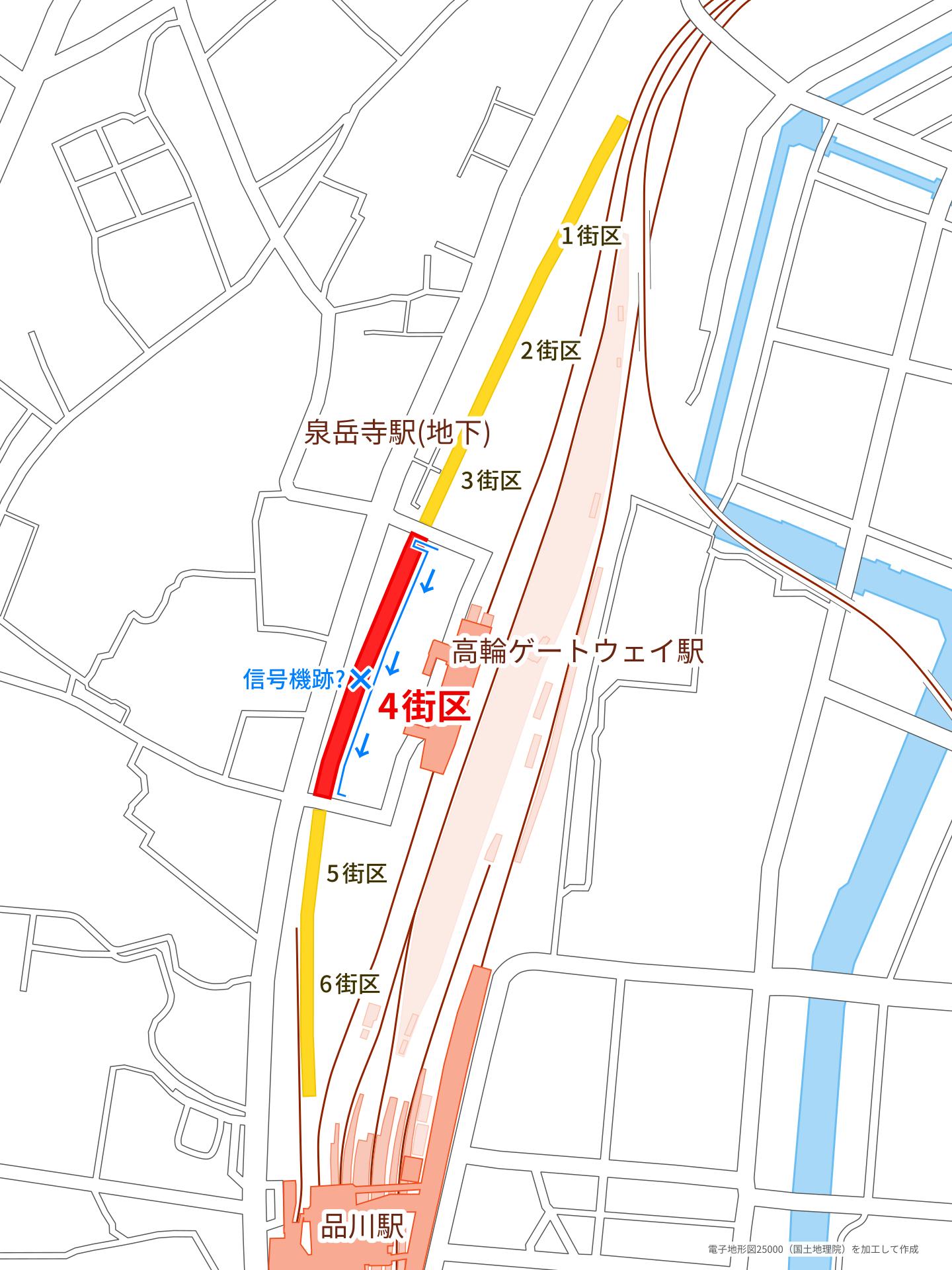高輪ゲートウェイ駅周辺広域の解説地図