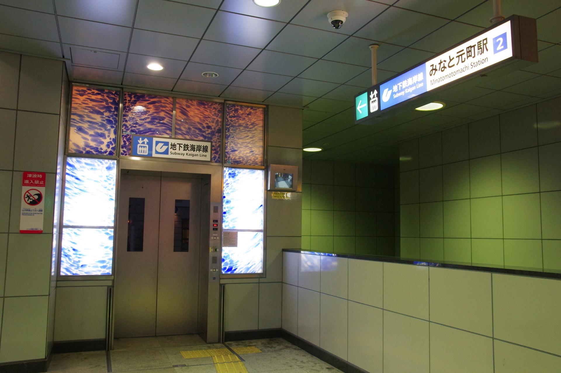 2番出口のエレベーター