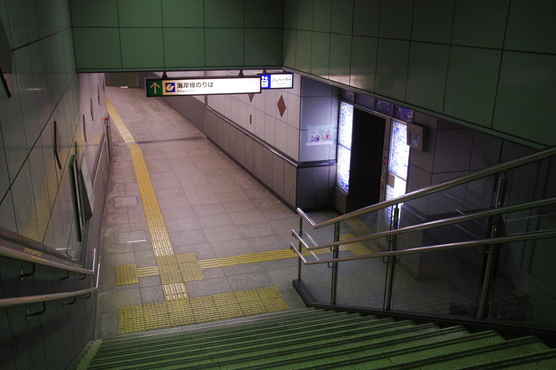 2番出口の階段付近