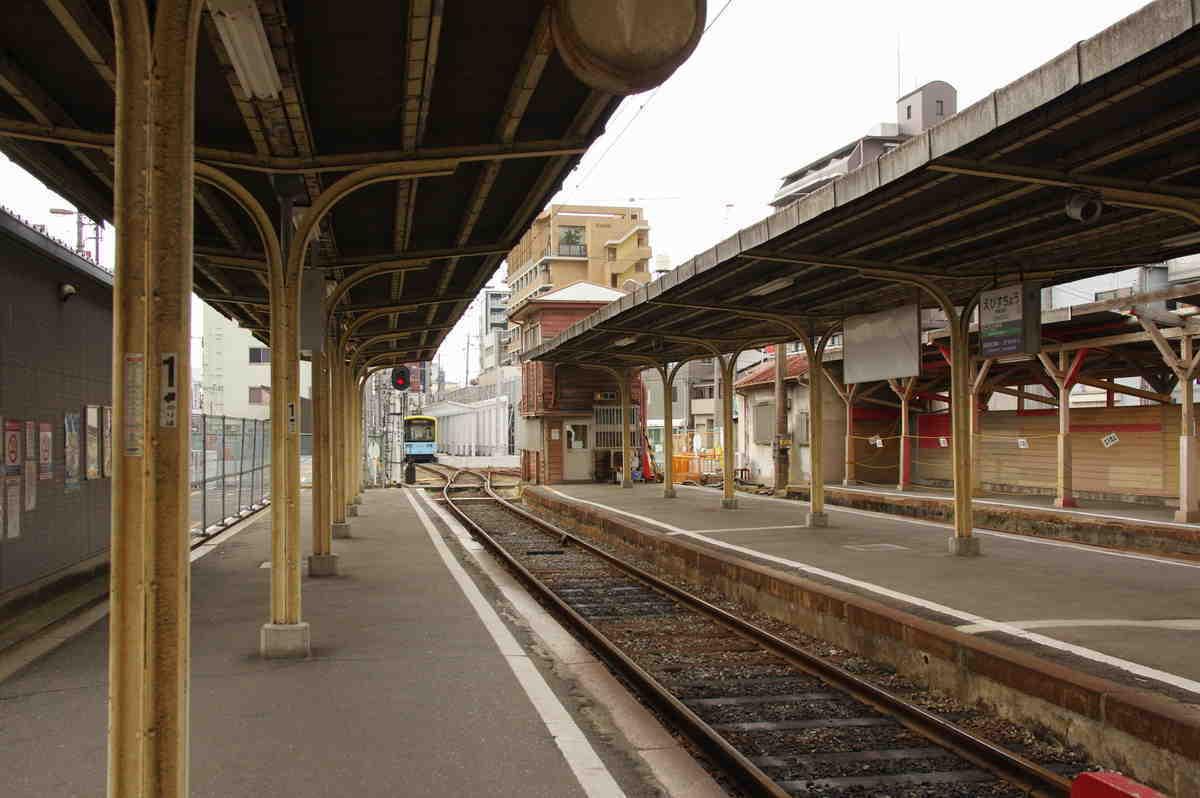 阪堺恵美須町旧駅の構内