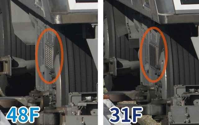 足回り・床下機器の比較(48編成と31編成)