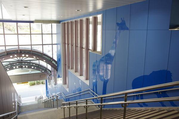 多摩動物公園駅の階段