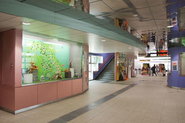 壁際の展示スペース