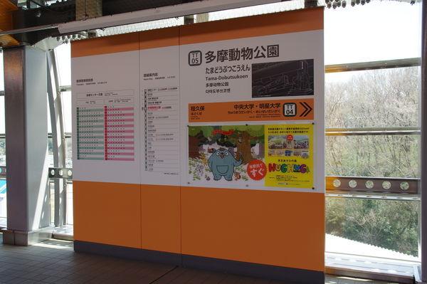 多摩動物公園駅の駅名標
