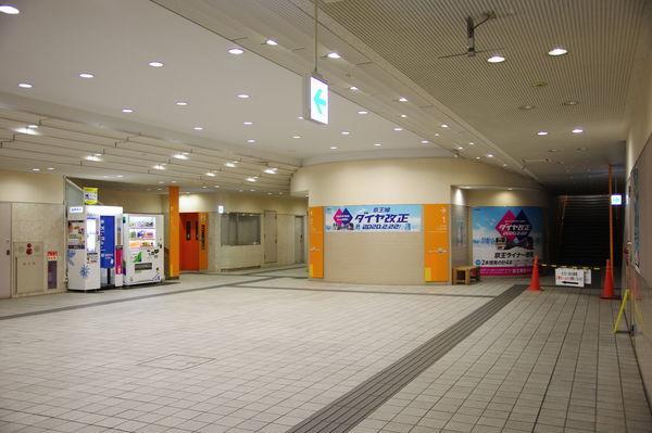 多摩センター駅の改札内の様子