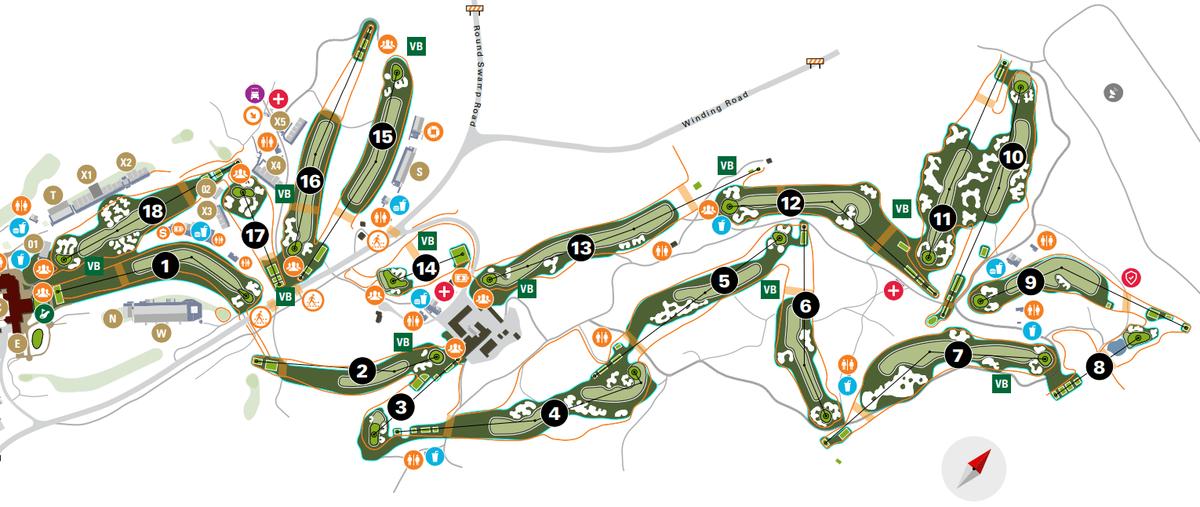 PGA Championship 2019 ベスページ・ブラック コースマップ