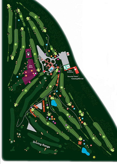 ロケットモーゲージクラシック2019 デトロイトGC コースマップ