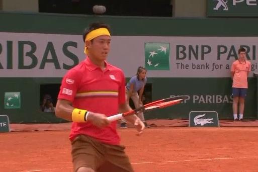 テニス全仏オープンローラン・ギャロス1回戦の錦織圭