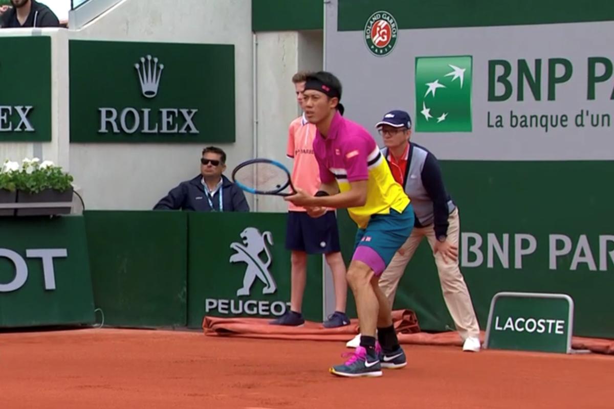 全仏オープンテニス(ローラン・ギャロス)2回戦の錦織圭