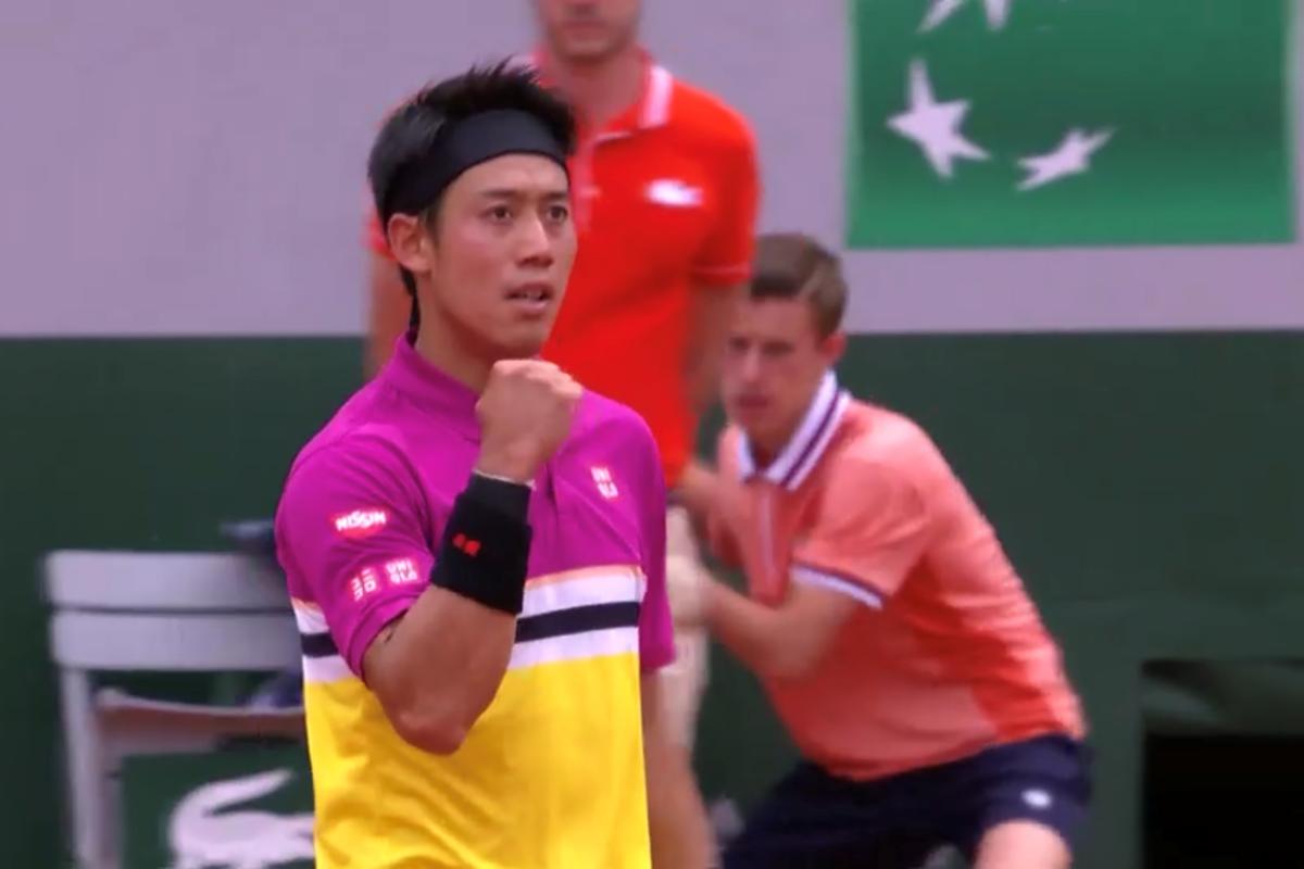 全仏オープンテニス(ローラン・ギャロス)3回戦の錦織圭