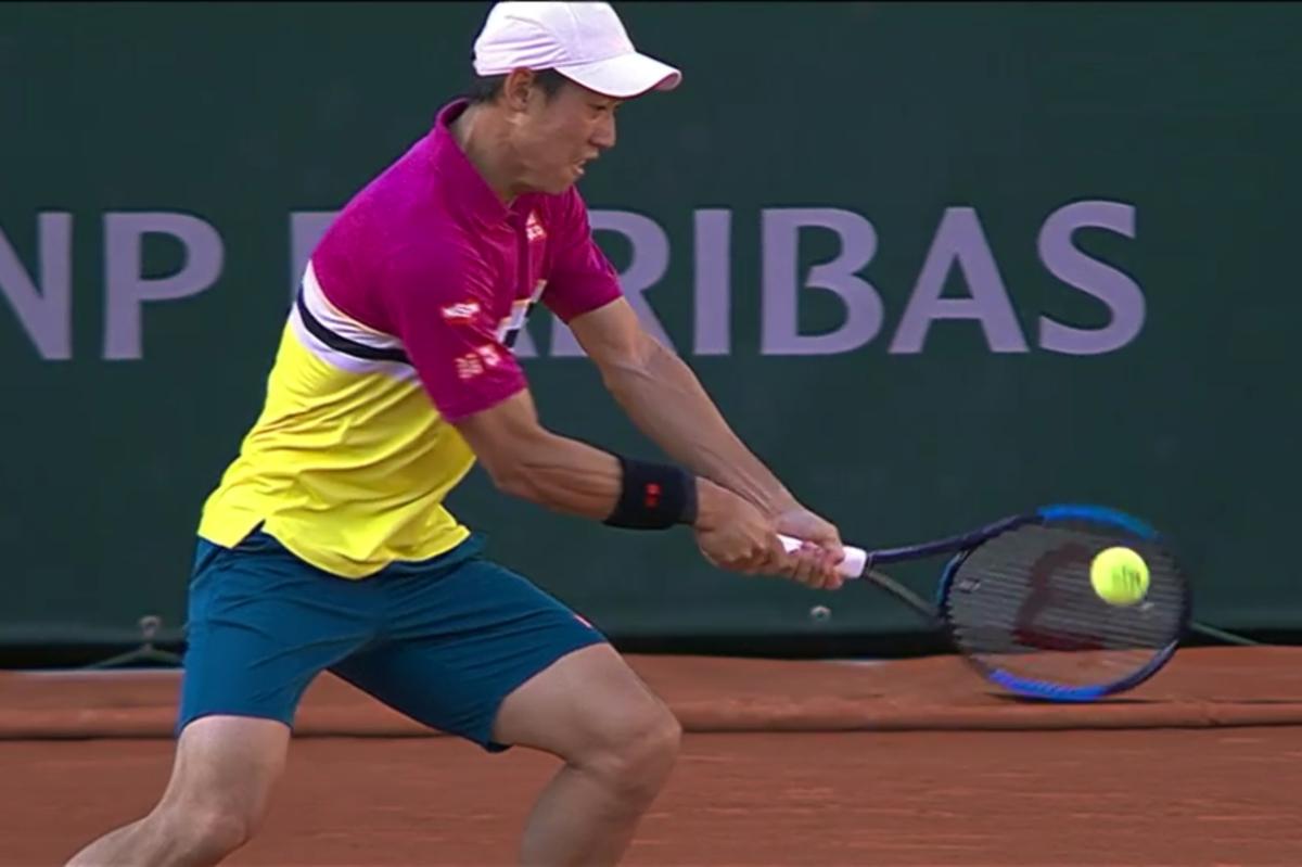 全仏オープンテニス(ローラン・ギャロス)準々決勝の錦織圭