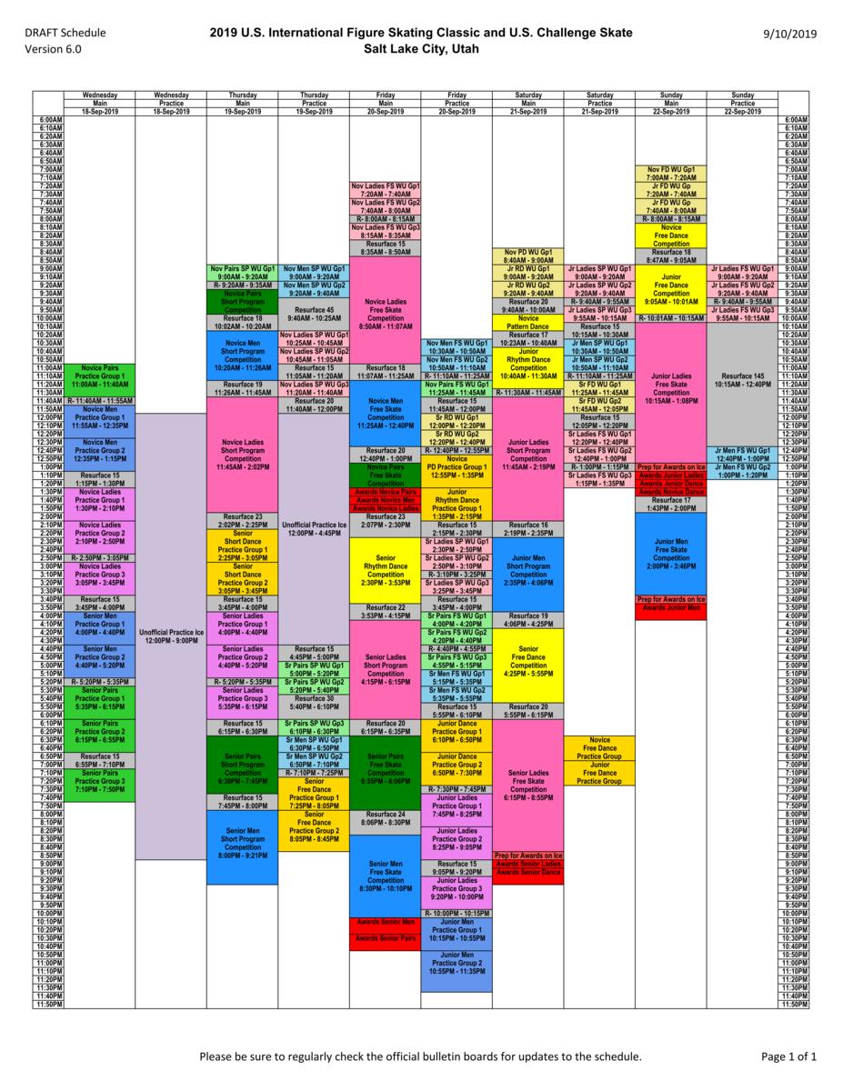 USインターナショナル2019試合スケジュール表