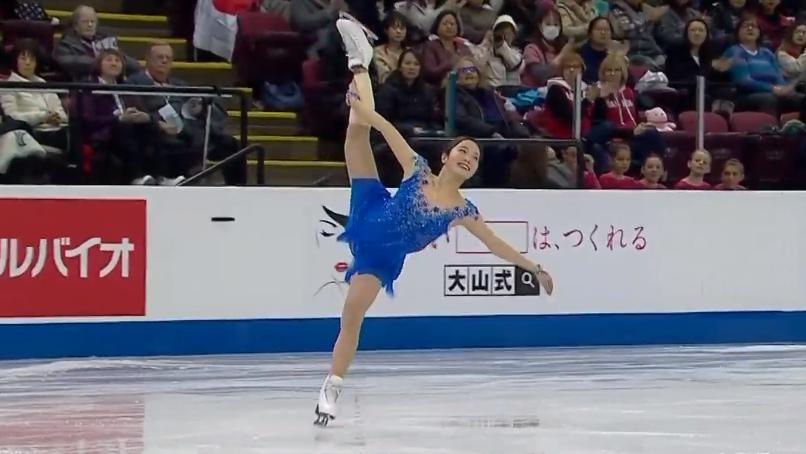 フィギュアスケートGPシリーズ第2戦のスケートカナダ大会、フリーの本田真凜 公式Instagram