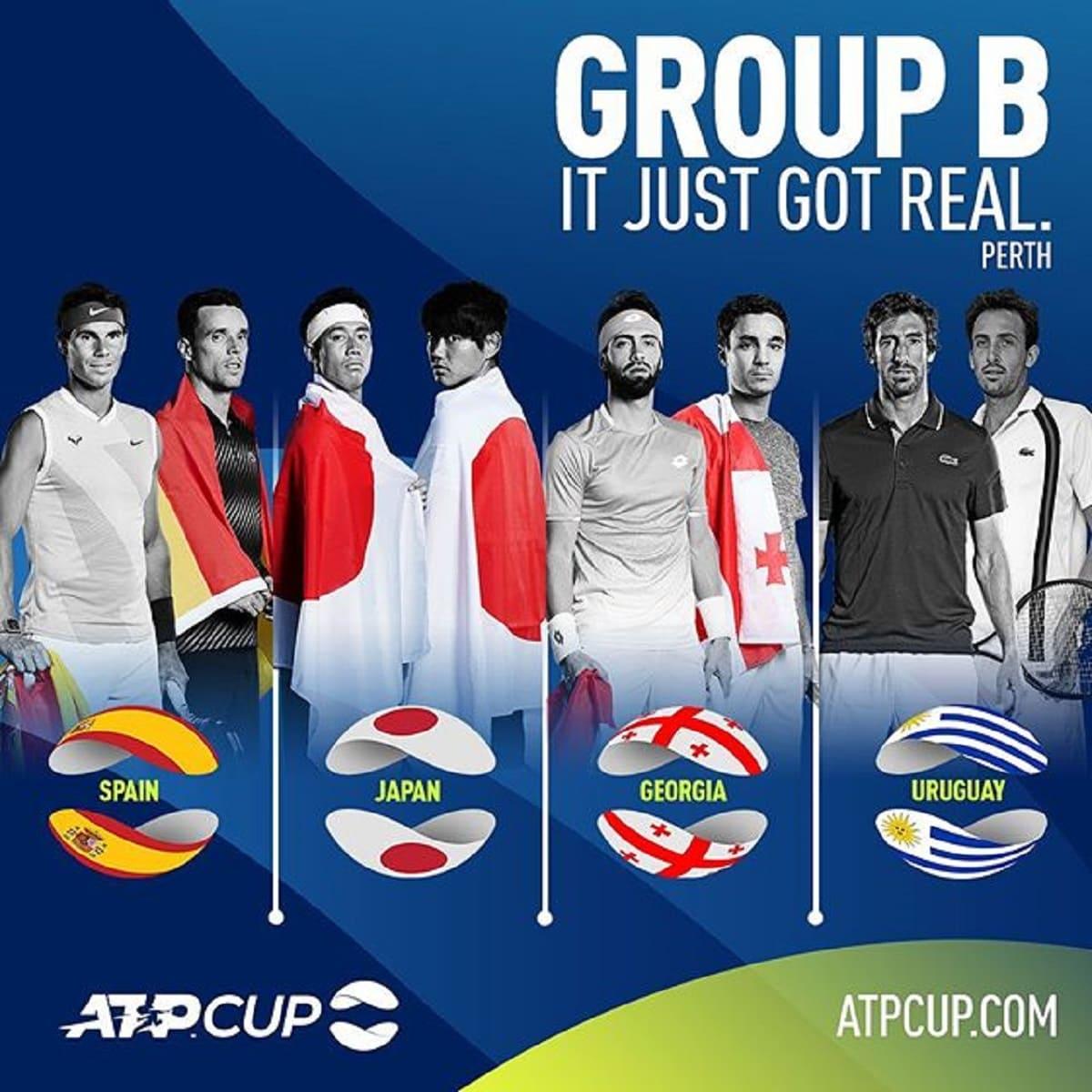 ATPカップ2020に出場の日本代表メンバーは?代表国・選手一覧・組み合わせ(トーナメン表)・順位表