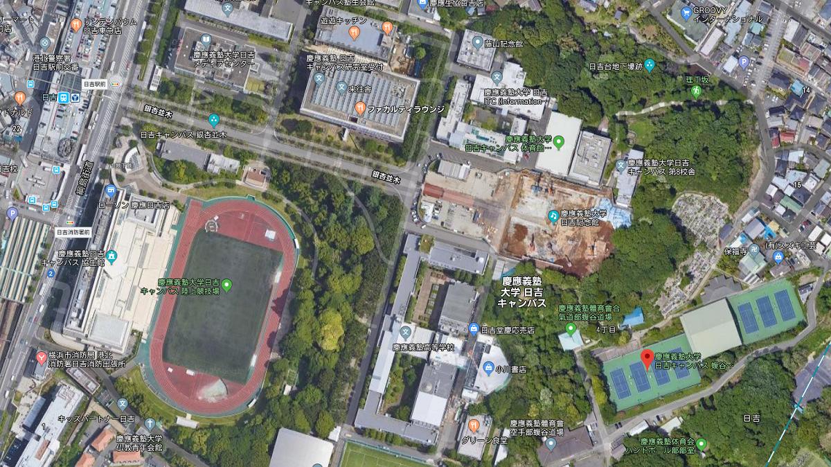 横浜慶應チャレンジャー試合会場マップ