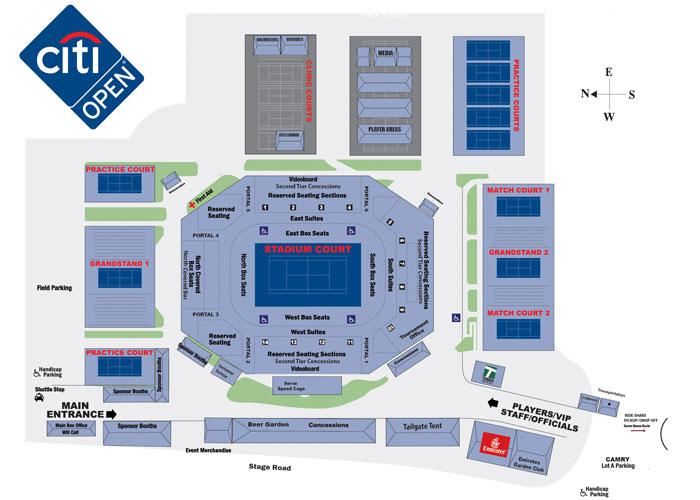 全米オープン・テニス試合会場の画像